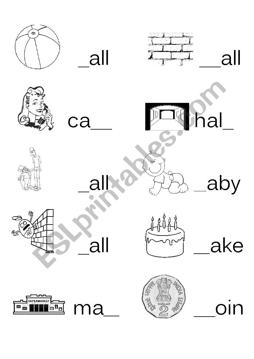 Life Skills Math Worksheets Fill In the Missing Letter Words with Part