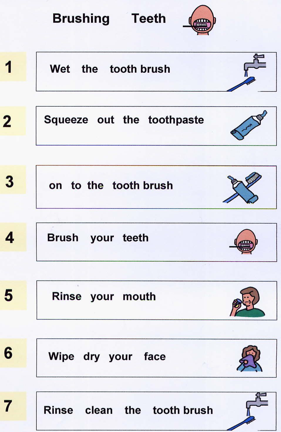 Life Skills Worksheets Kids Brushing Teeth Worksheets