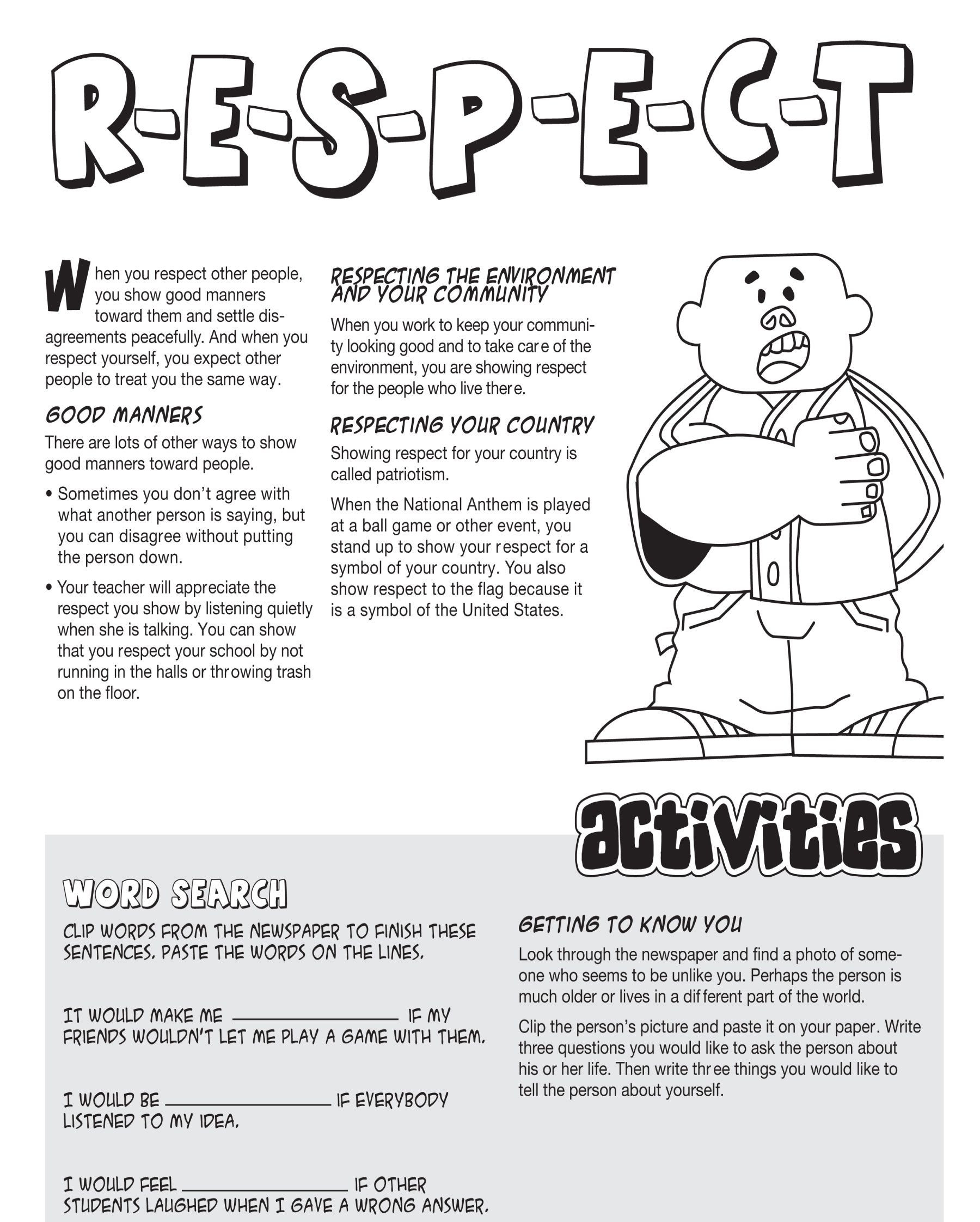 Life Skills Worksheets Kids Learning Nie Rocks