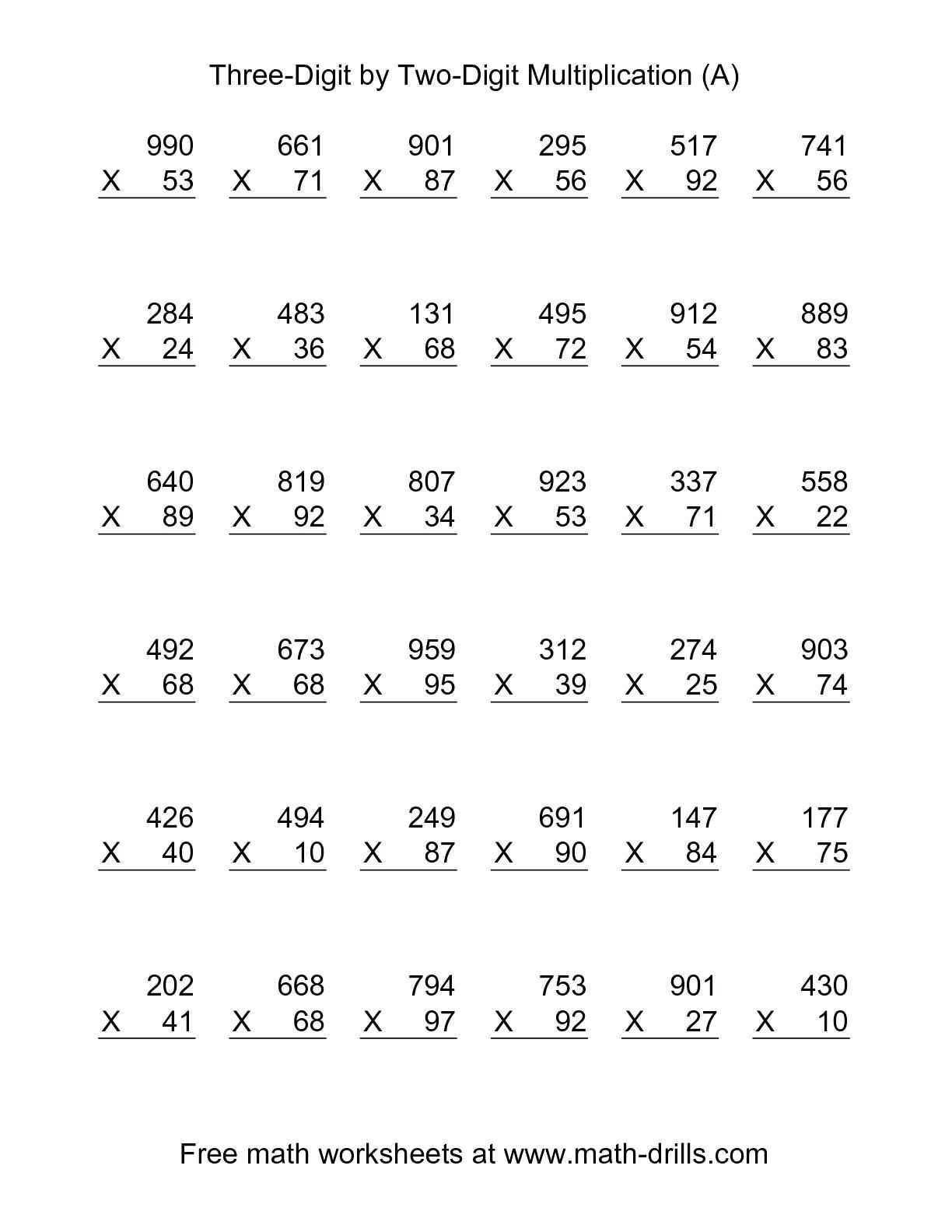 Long Division Worksheets 5th Grade 5th Grade Multiplication Worksheets for Printable In 2020