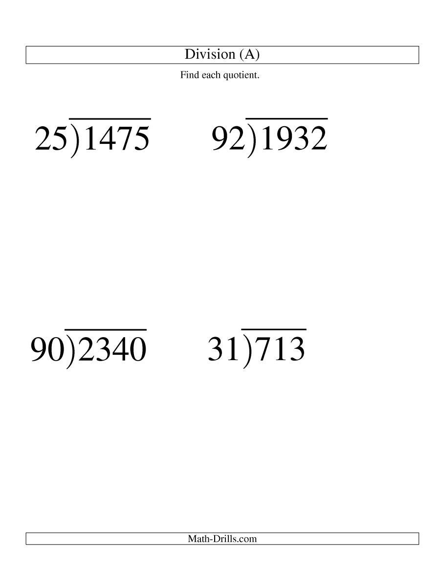 Long Division Worksheets 5th Grade the Long Division Two Digit Divisor and A Two Digit