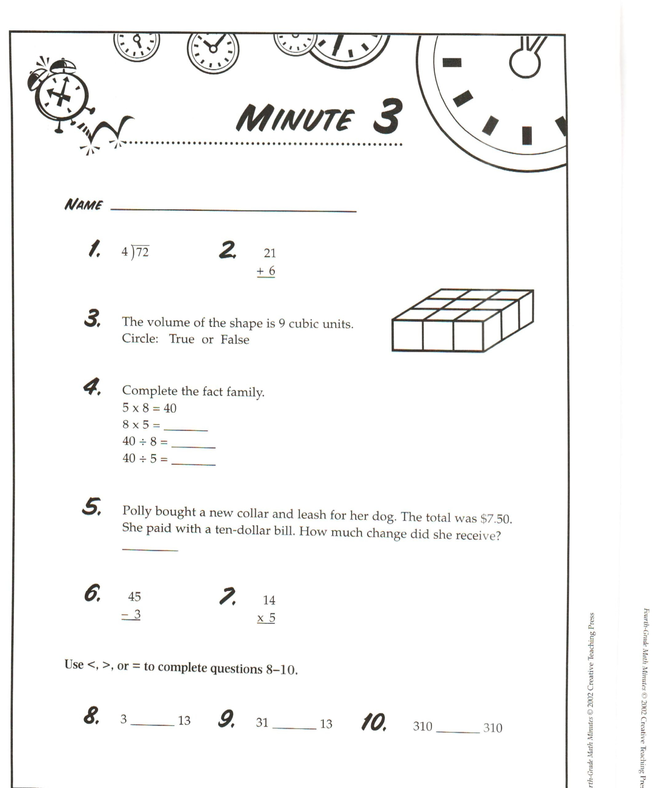 Mad Minute Math Worksheets 6th Grade Math Facts Printable Cursive Worksheets 7th Grade