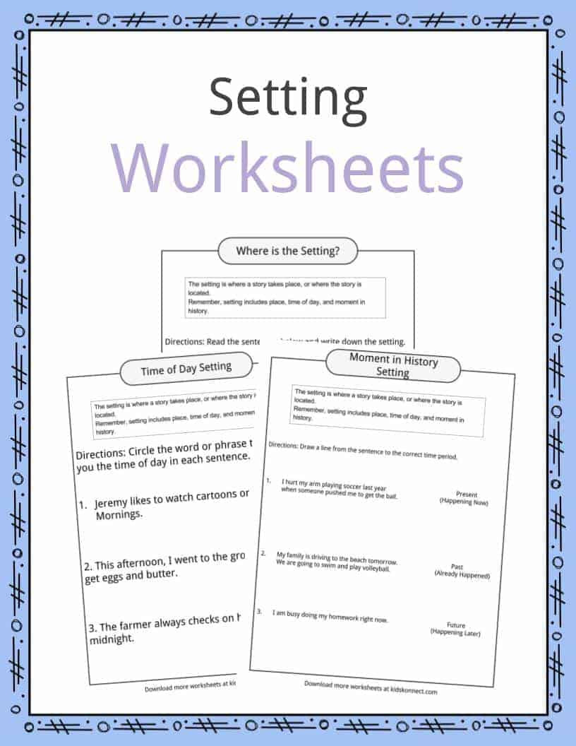 Main Idea Worksheets High School Story Setting Examples Definition & Worksheets for Kids
