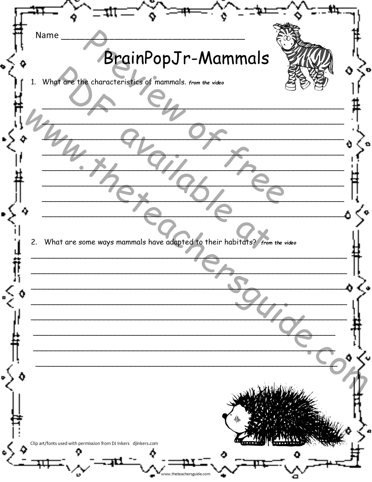 Mammals Worksheet First Grade the Teacher Guide Free Lesson Plans Printouts and Resources