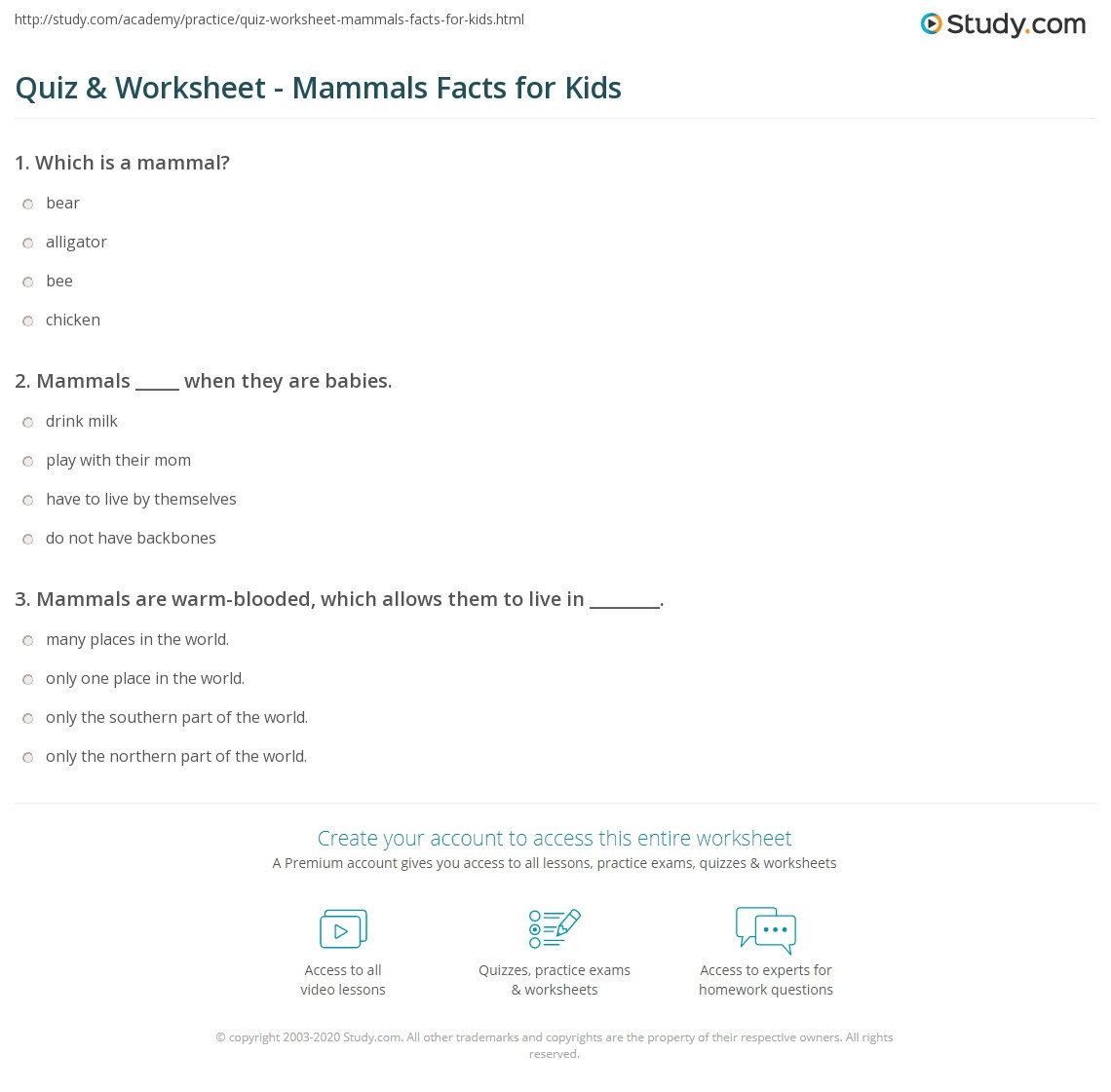 Mammals Worksheets for 2nd Grade Science Test Worksheets Mammals