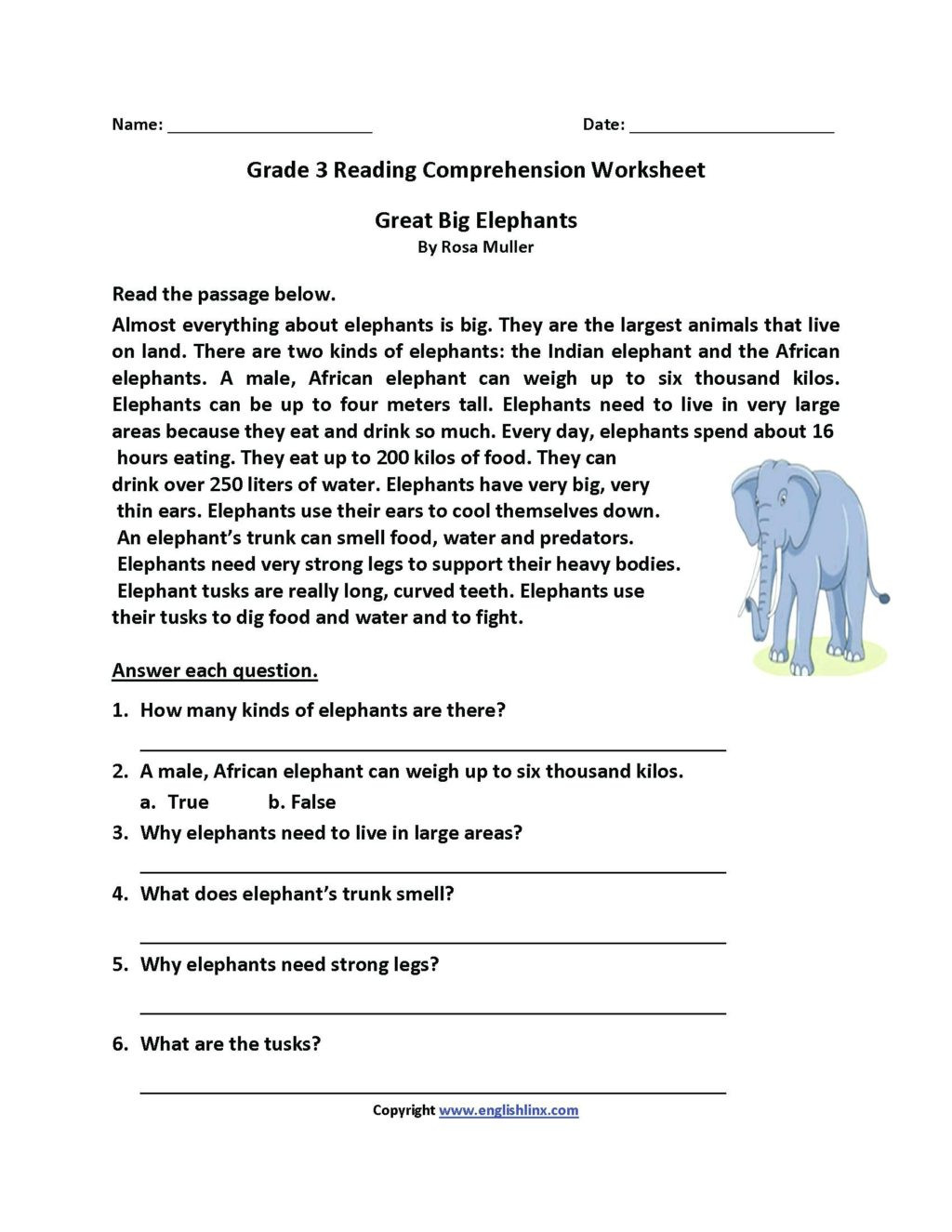 Mammals Worksheets for 2nd Grade Worksheet Second Gradension Worksheets 2nd Reading Pdf
