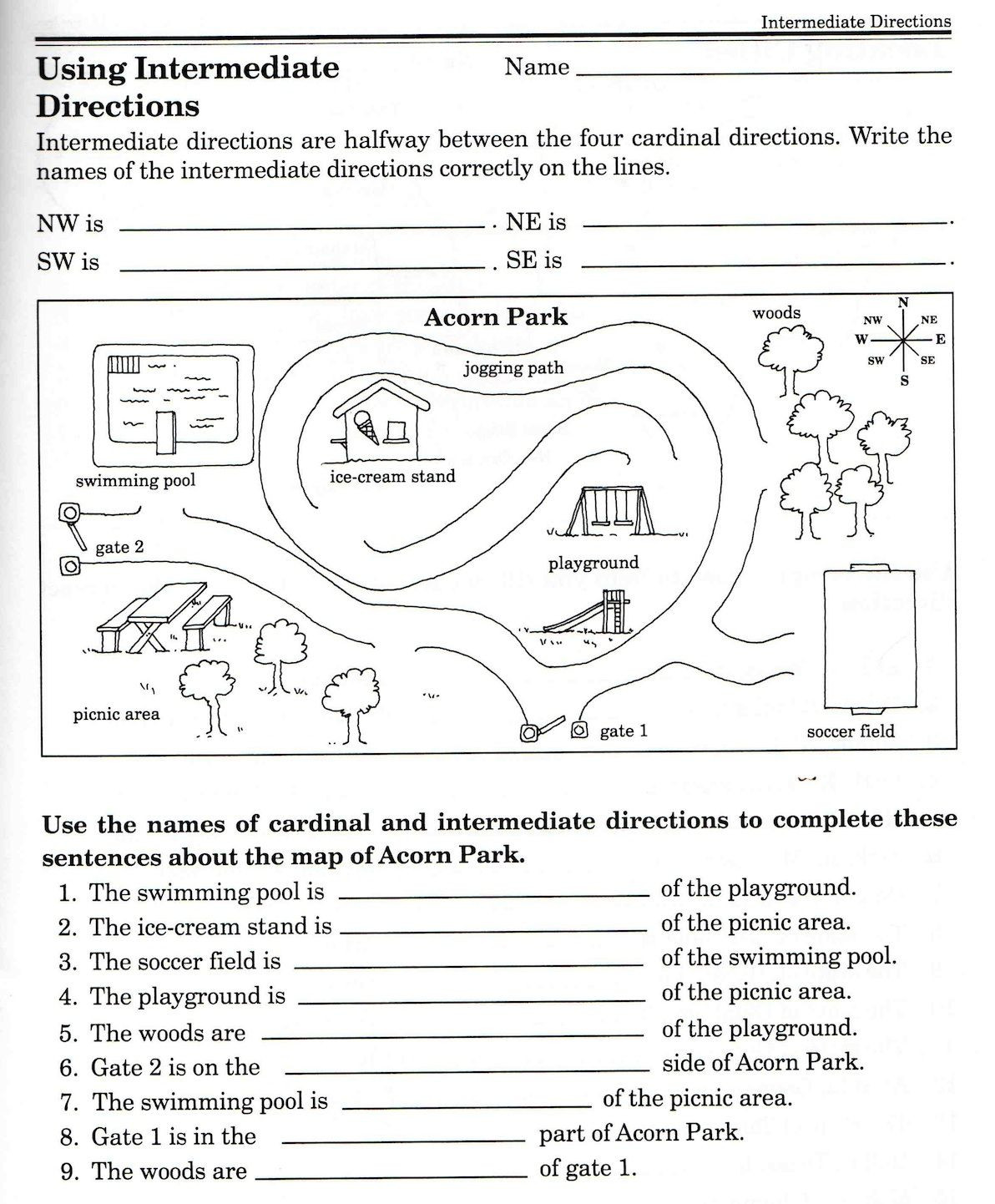 Map Worksheets for 2nd Grade social Stu S Skills