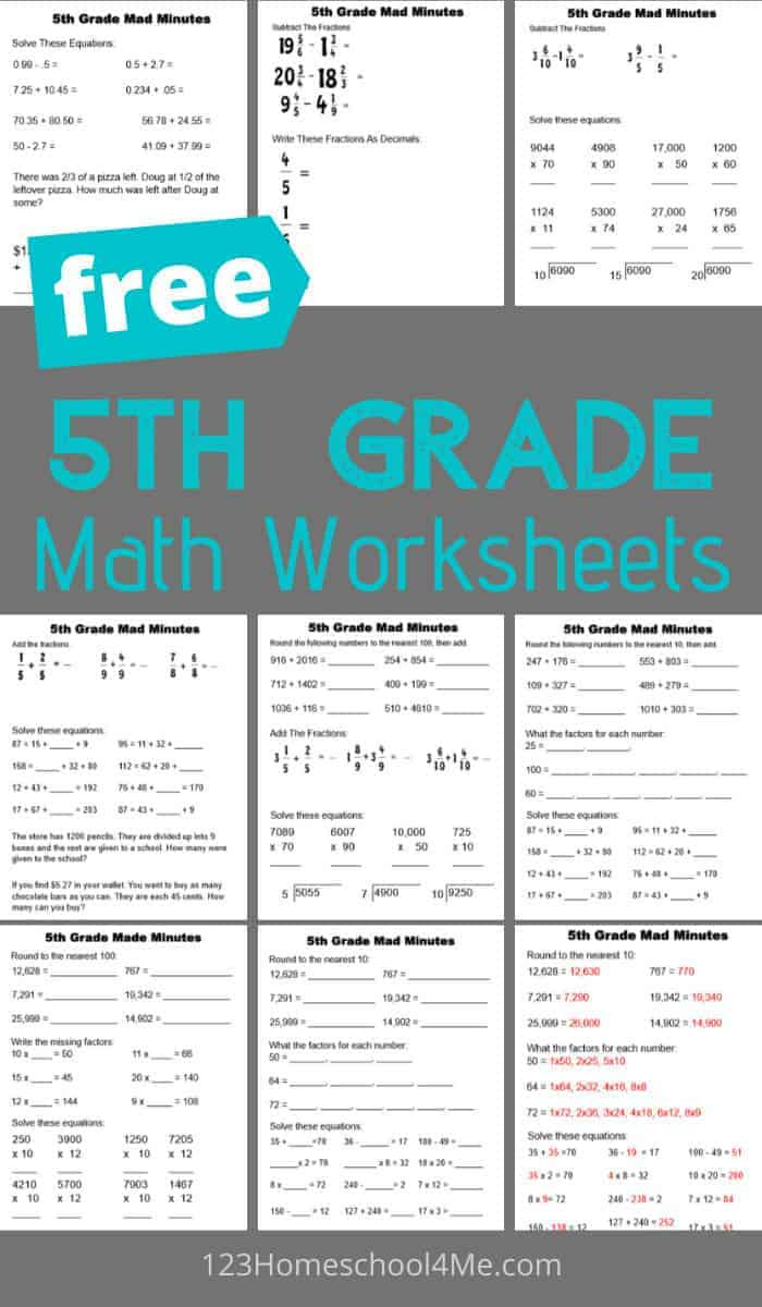 Math 5th Grade Worksheets 5th Grade Math Worksheets