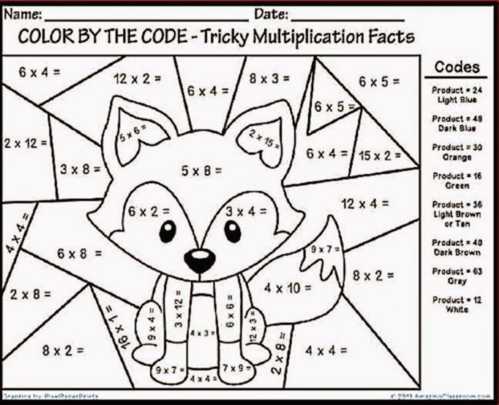 Math Coloring Worksheets 3rd Grade Math Worksheet Math Worksheet