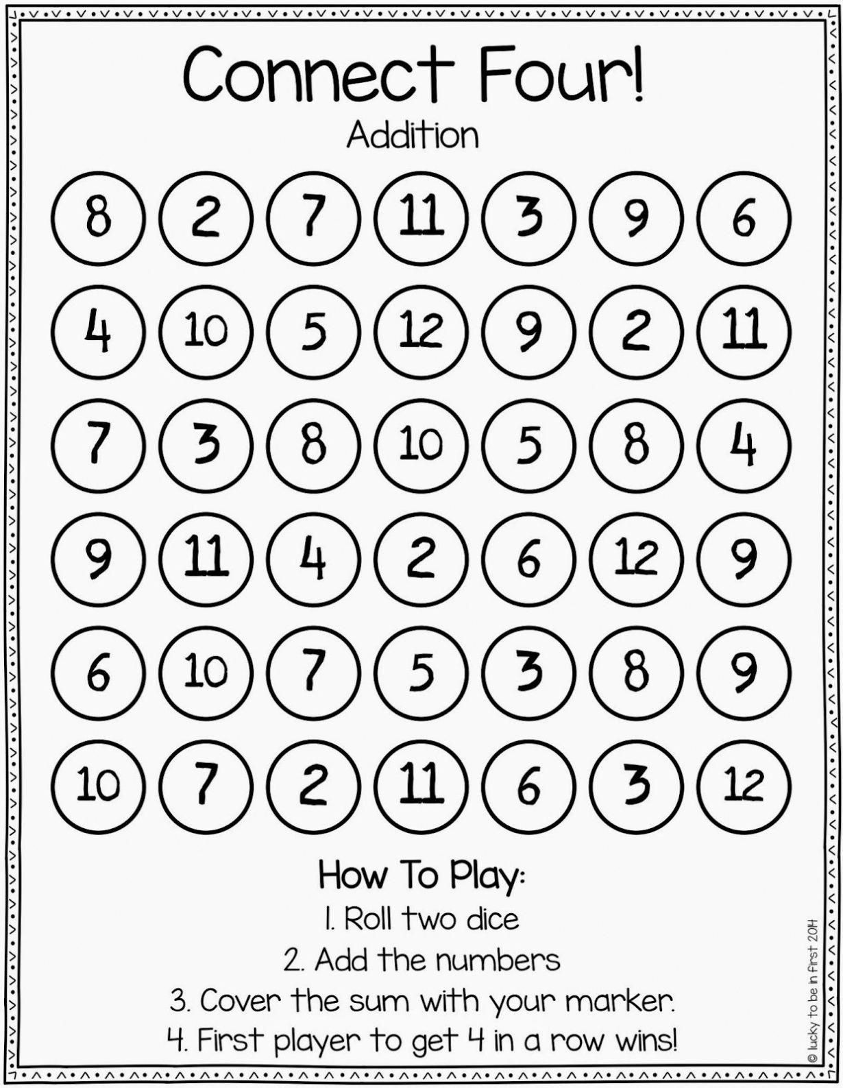 Math Dice Games Worksheets Games to Strengthen Math Skills