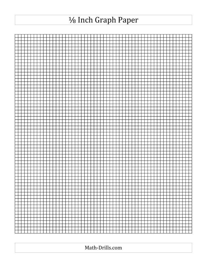 Math Drills Graph Paper 1 8 Inch Graph Paper A Math Drills I Love This