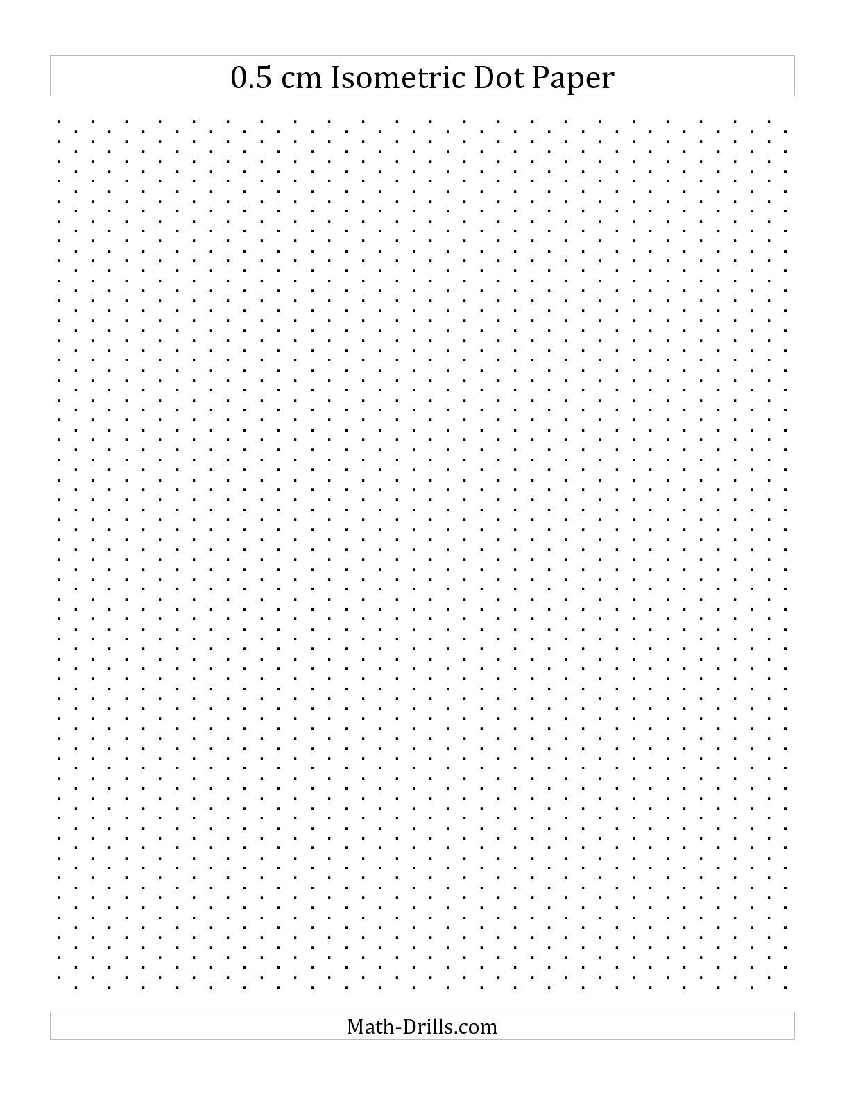 Math Drills Graph Paper the 0 5 Cm isometric Dot Paper Portrait A Graph Paper