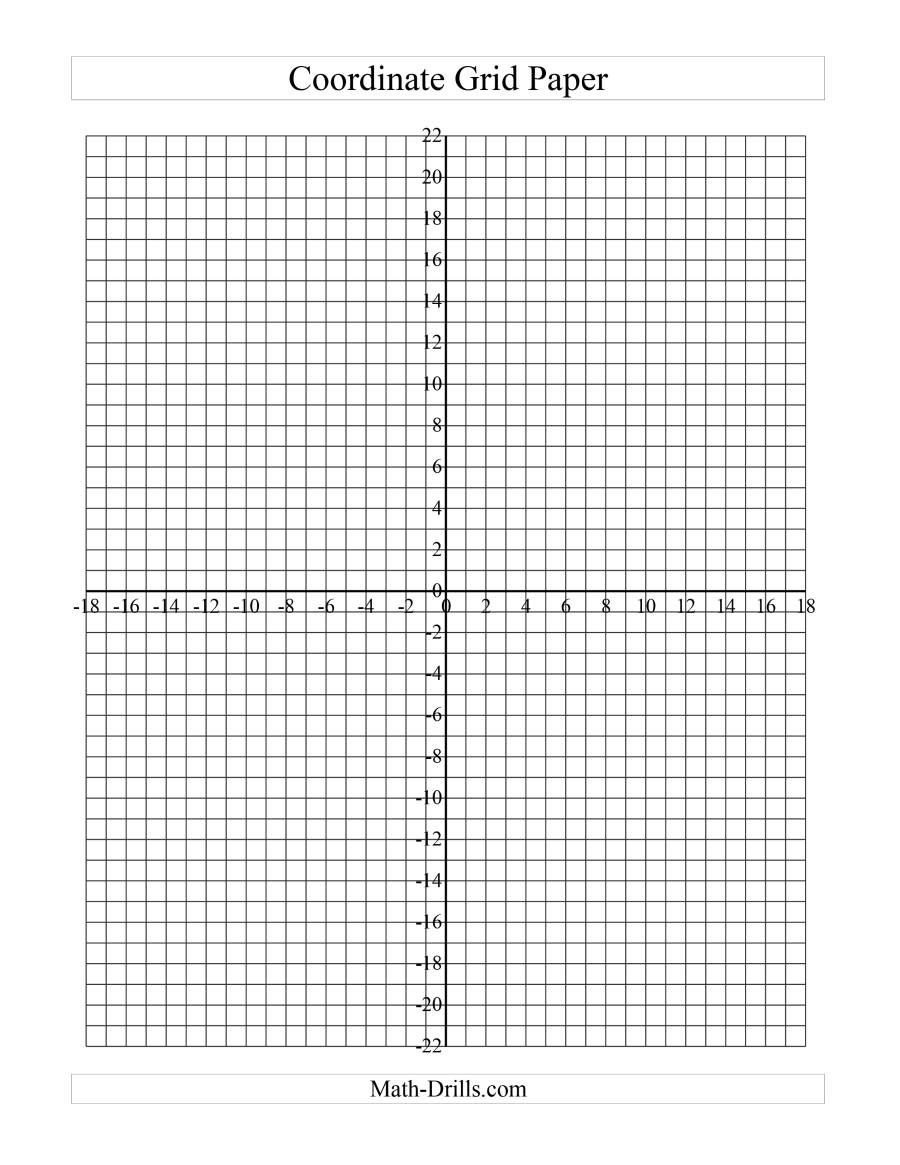 Math Drills Graph Paper the Coordinate Grid Paper B Math Worksheet From the Graph