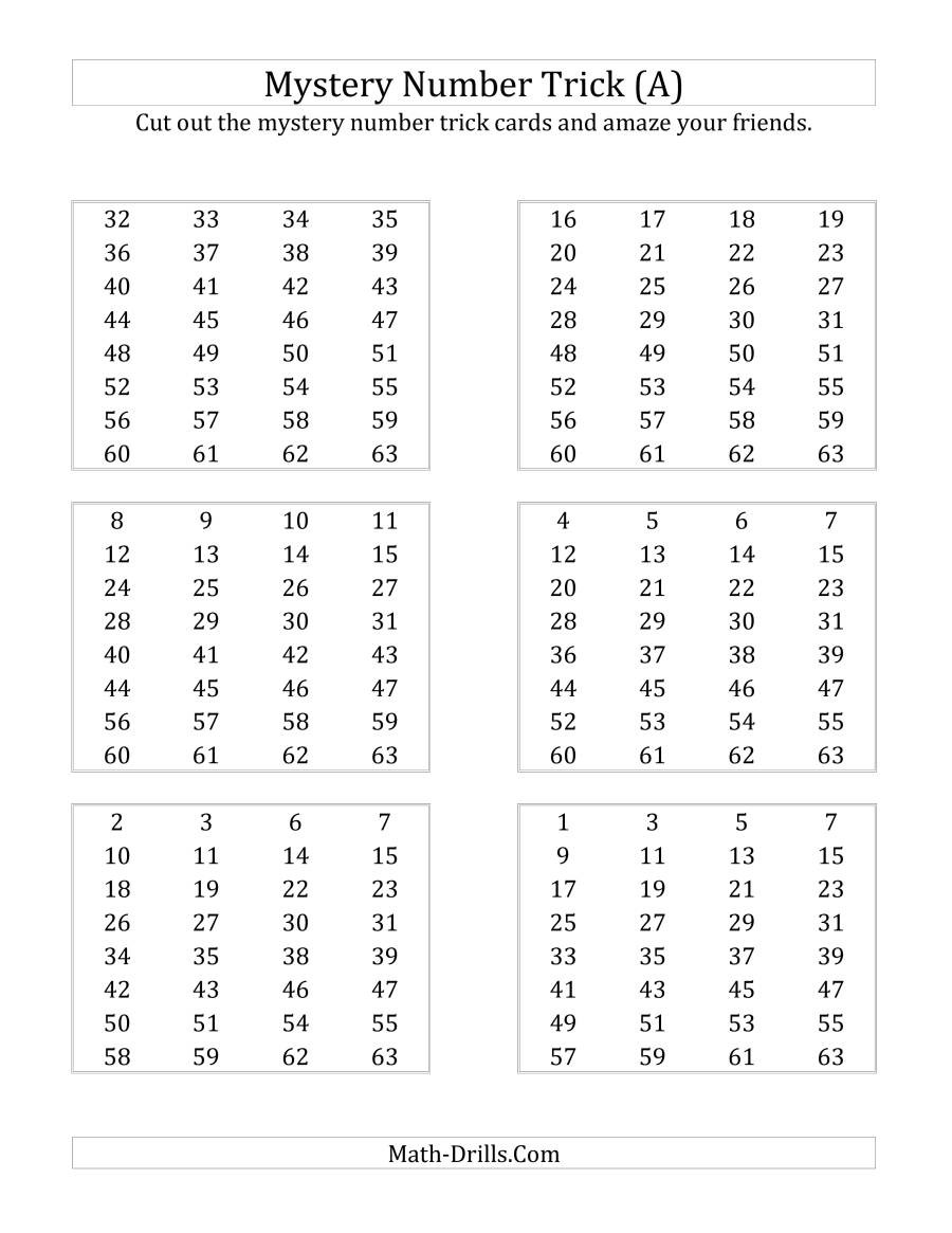 Math Hidden Picture Worksheets Math Worksheet Mystery Number Trick