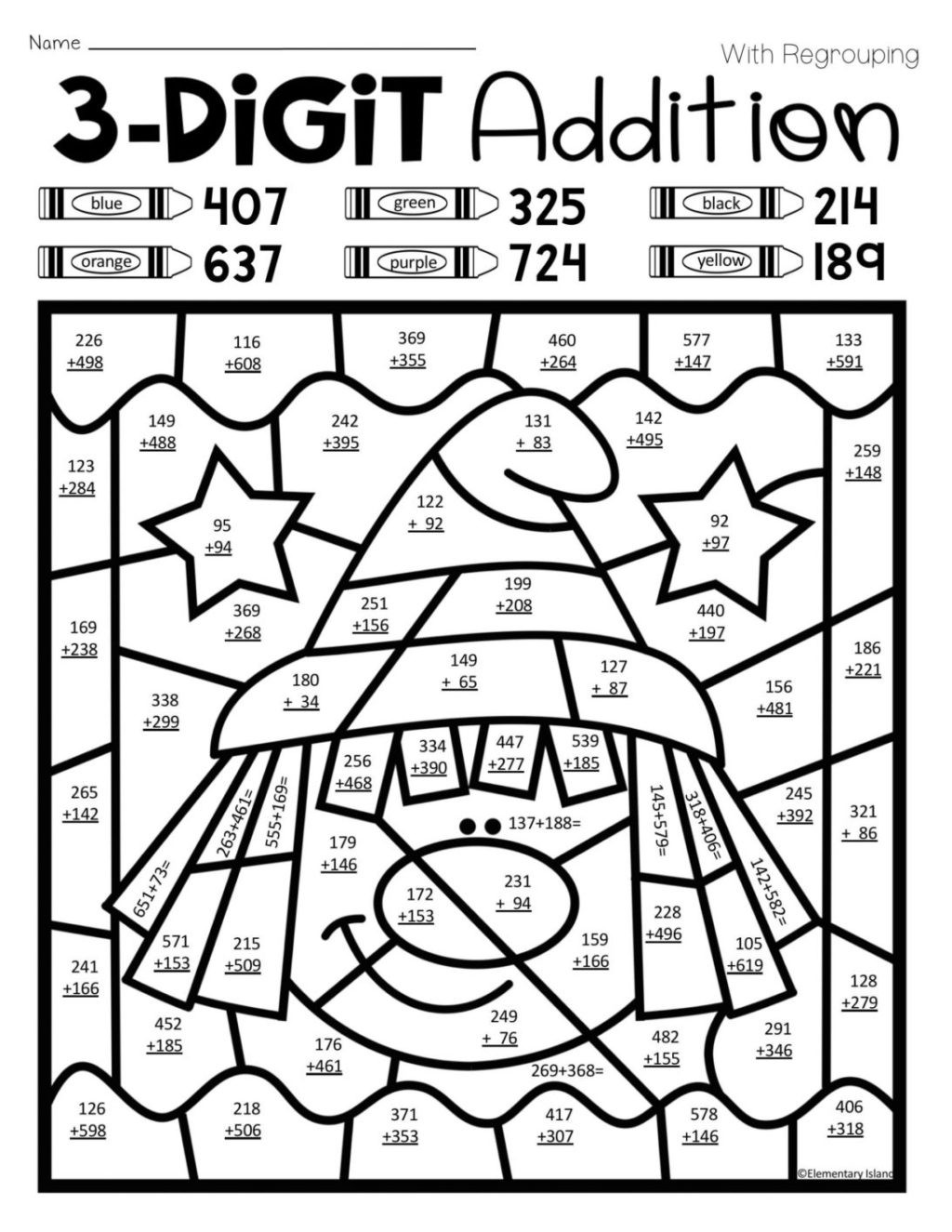 Math Hidden Picture Worksheets Worksheet Coloring Pages Coloringes Color Math for Kids