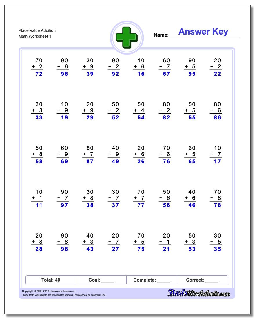 Math Place Value Worksheets Place Value Addition Worksheets