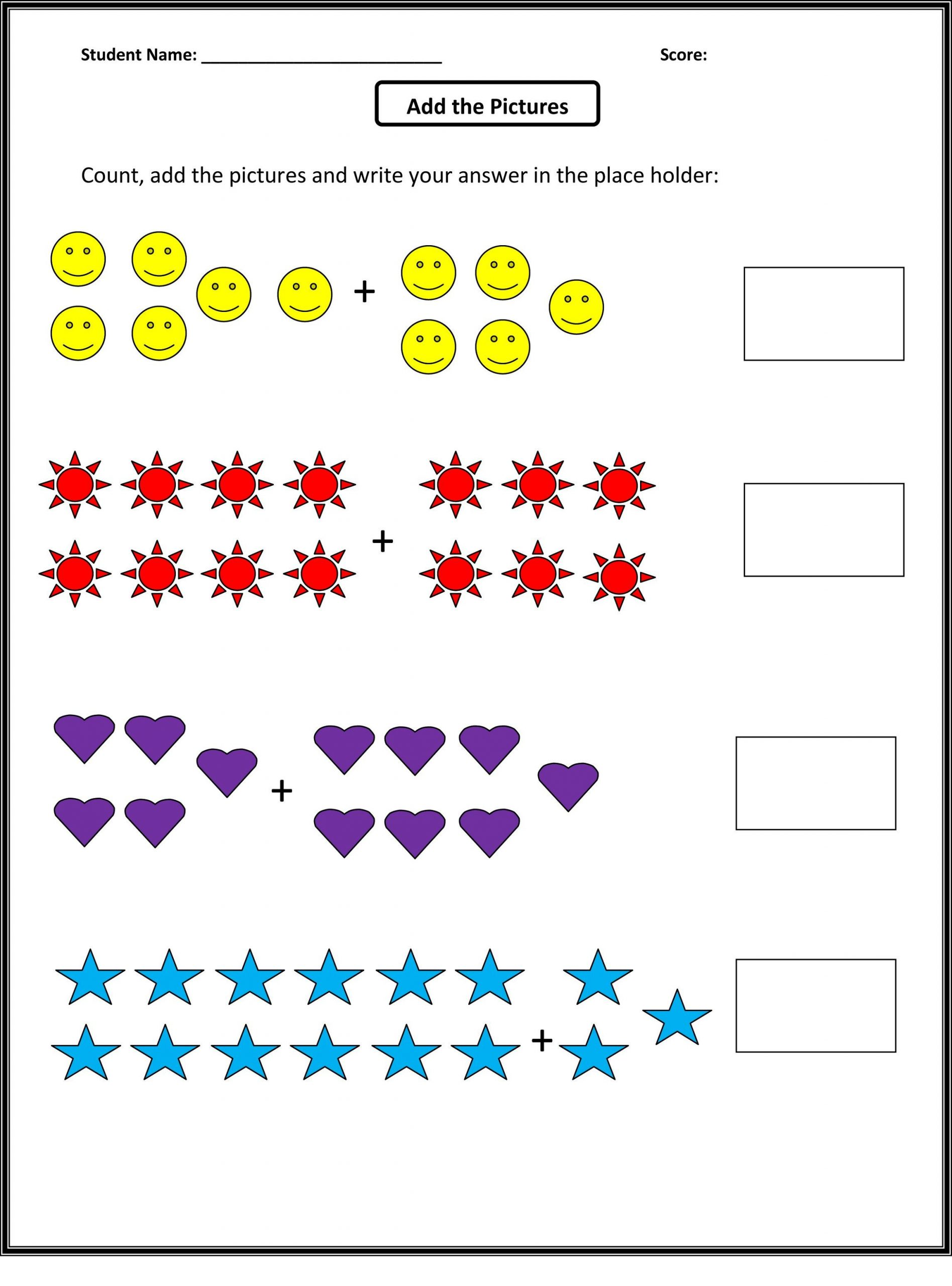 Math Worksheets for Autistic Students Math Activity Worksheets