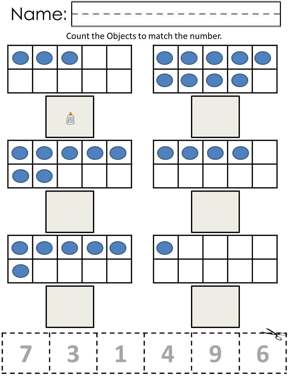 Math Worksheets for Autistic Students Ten Frame Counting Worksheets now Available at