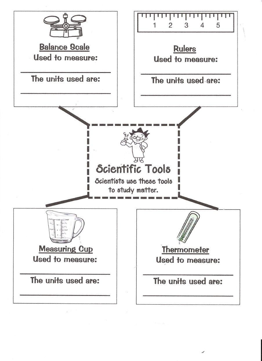 Matter Worksheets 5th Grade Matter tools 0001 Scribd