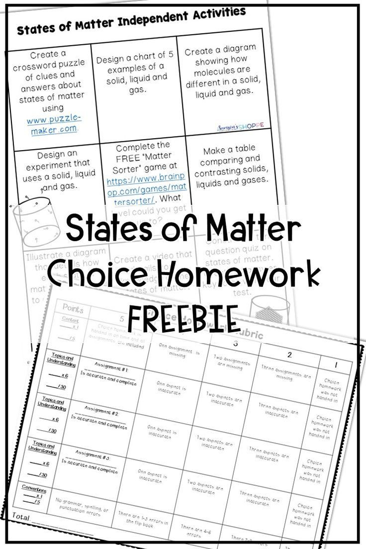 Matter Worksheets 5th Grade States Of Matter Free