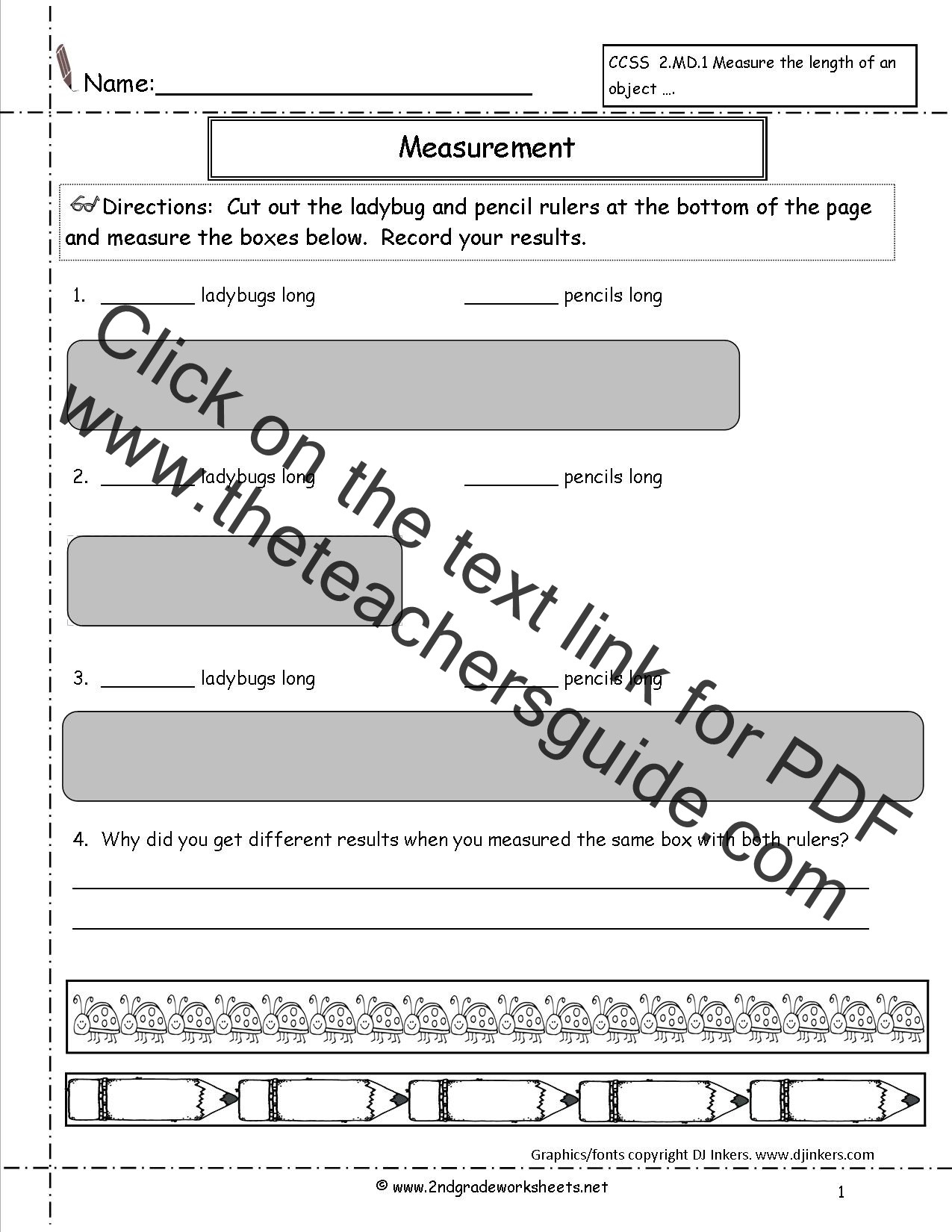 Measurement Worksheet 2nd Grade Ccss 2 Md 1 Worksheets Measuring Worksheets