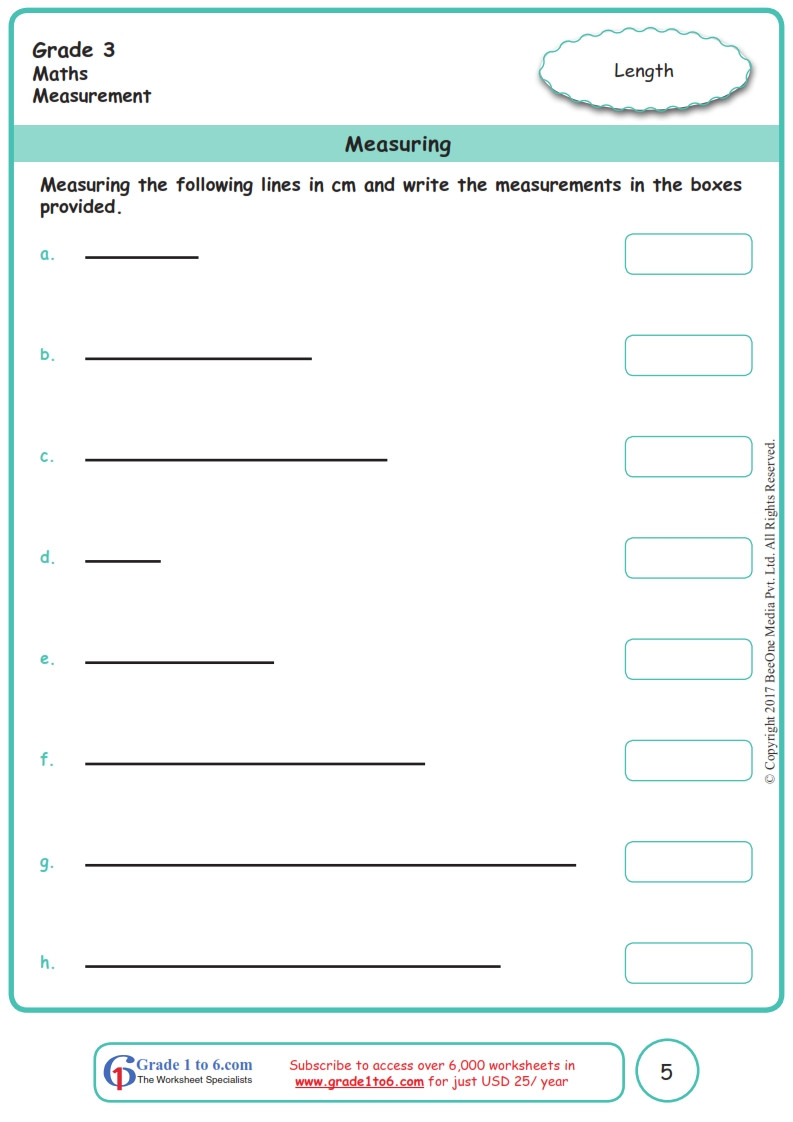 Measurement Worksheet Grade 3 Grade 3 Class 3 Measurement Worksheets