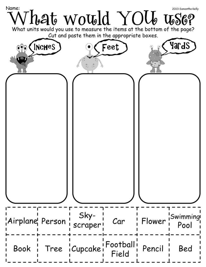Measuring Worksheet 2nd Grade Worksheet Second Grade Measurement Worksheets Picture