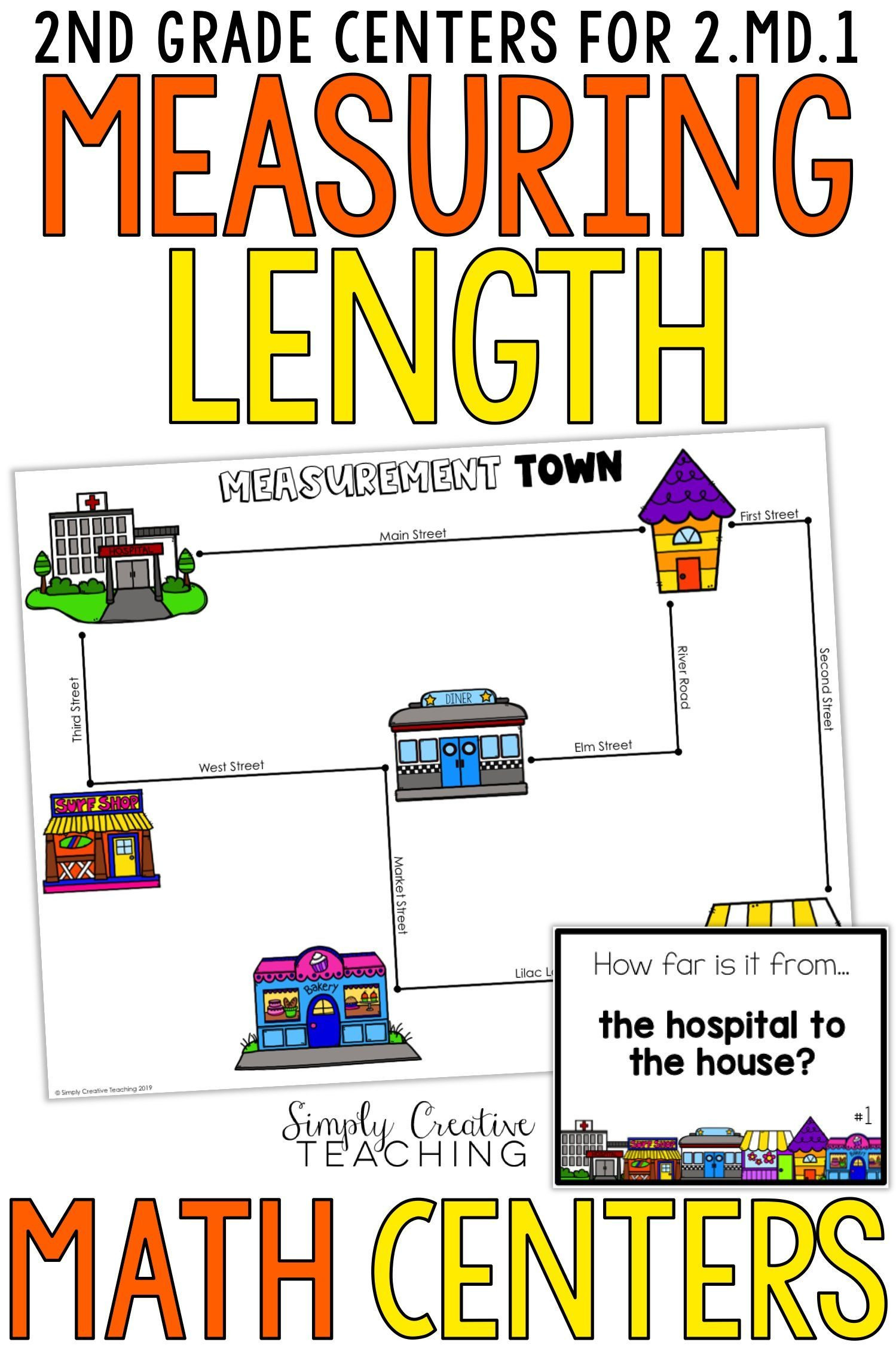 Measuring Worksheets 2nd Grade 2nd Grade Measurement Centers for 2 Md 1