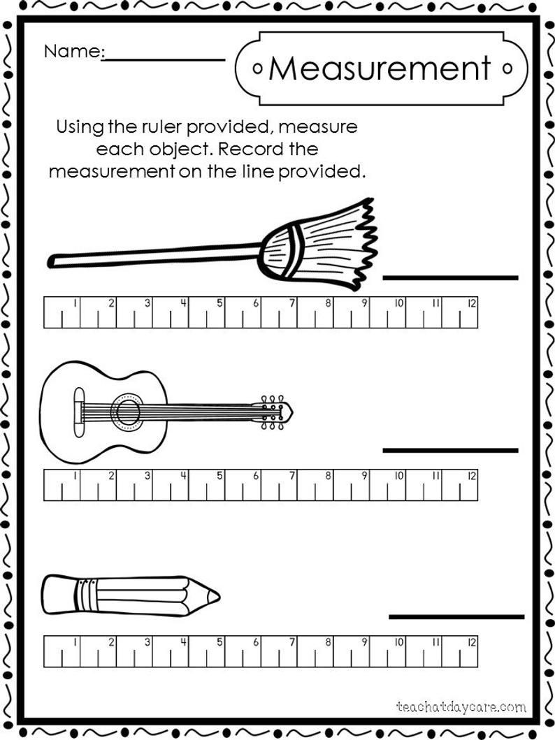 Measuring Worksheets 2nd Grade Free 1st Grade Measurement Worksheets 1st Grade