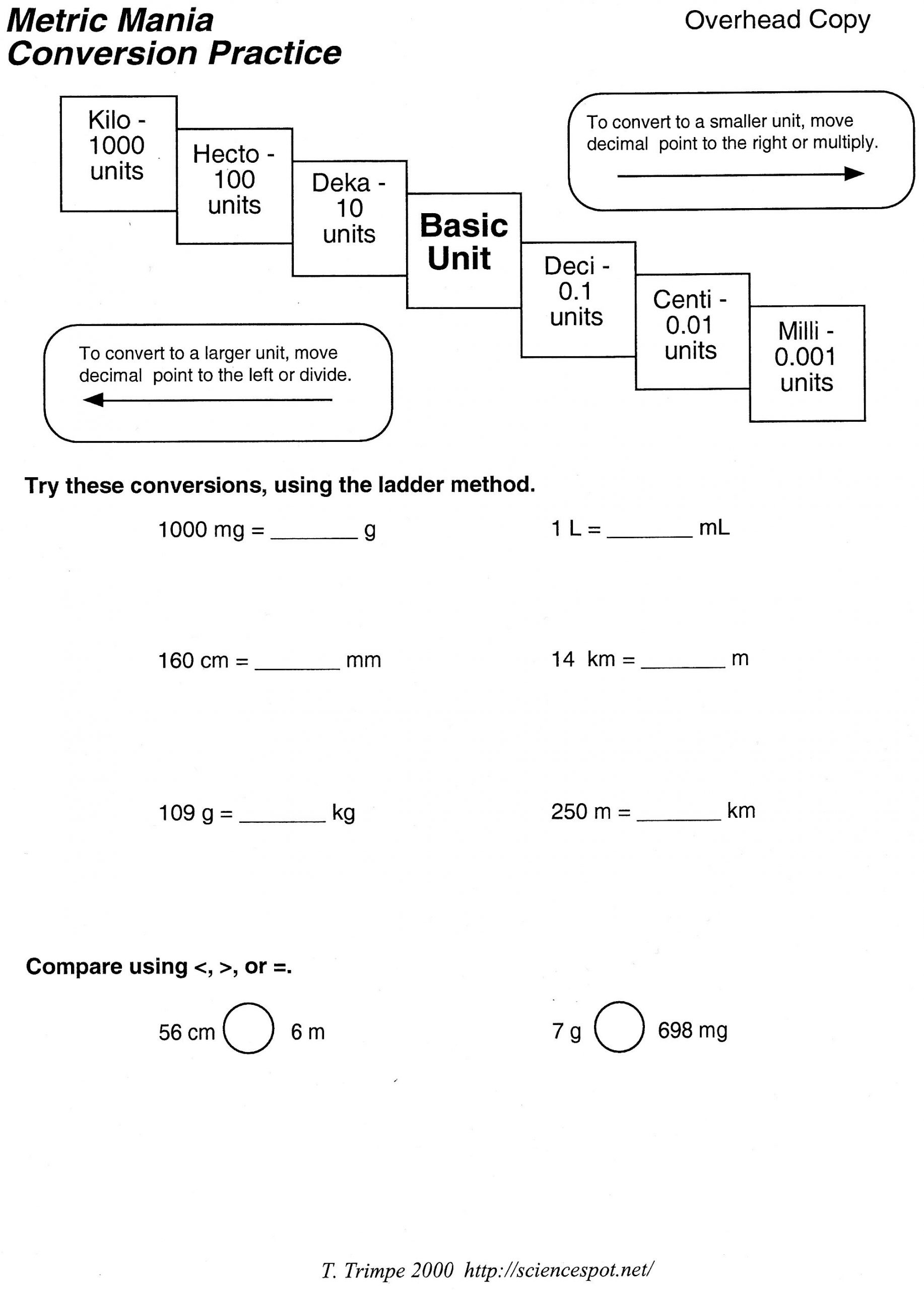 Metric Conversion Worksheets 5th Grade Metric Unit Conversion Word Problems Worksheet