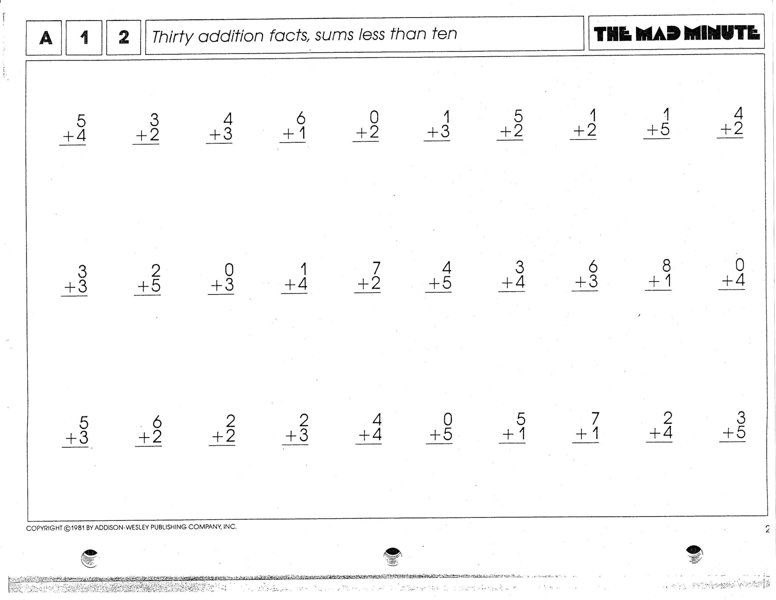 Minute Math Worksheets 1st Grade Hiddenfashionhistory Page 4 Pound Independent Ideas Math