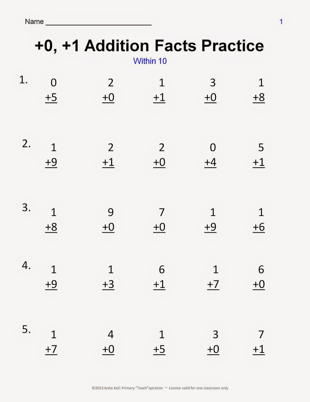Minute Math Worksheets 1st Grade the Mad Minute Worksheets