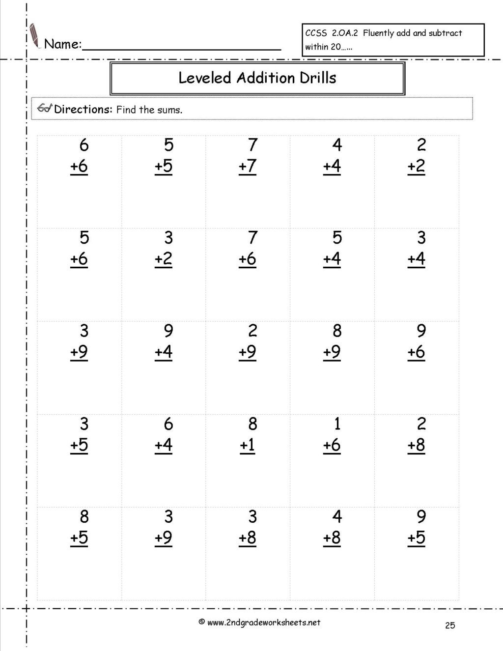 Minute Math Worksheets 1st Grade Worksheet Minute Math Worksheets 2nd Grade Image