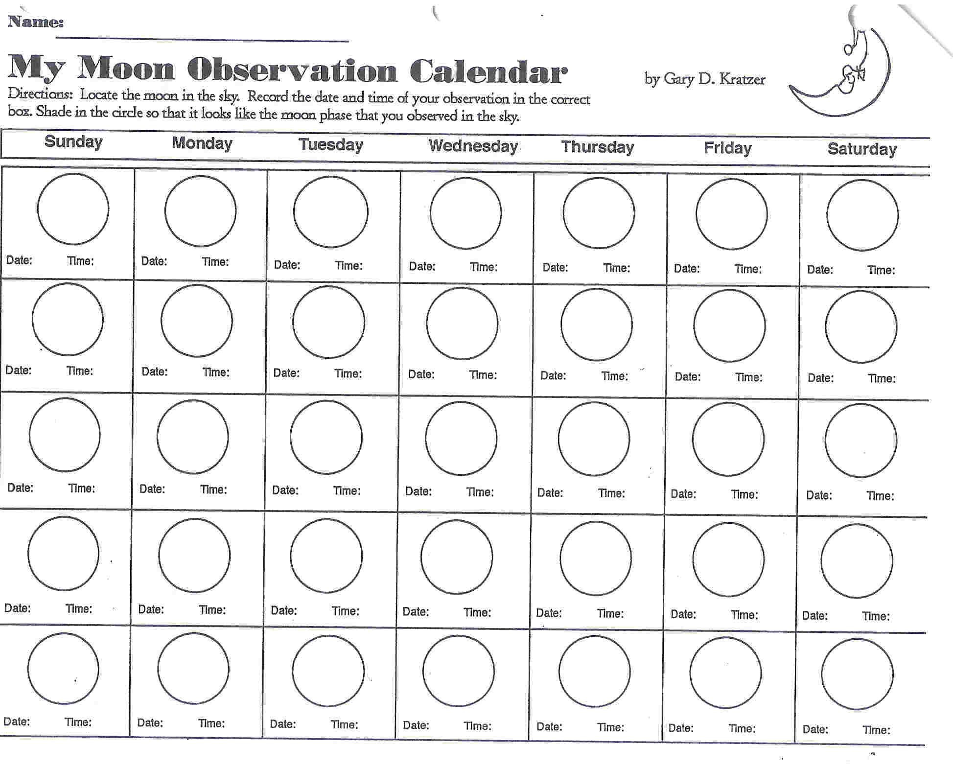 Moon Phases Worksheet 5th Grade Phases Moon Coloring Page