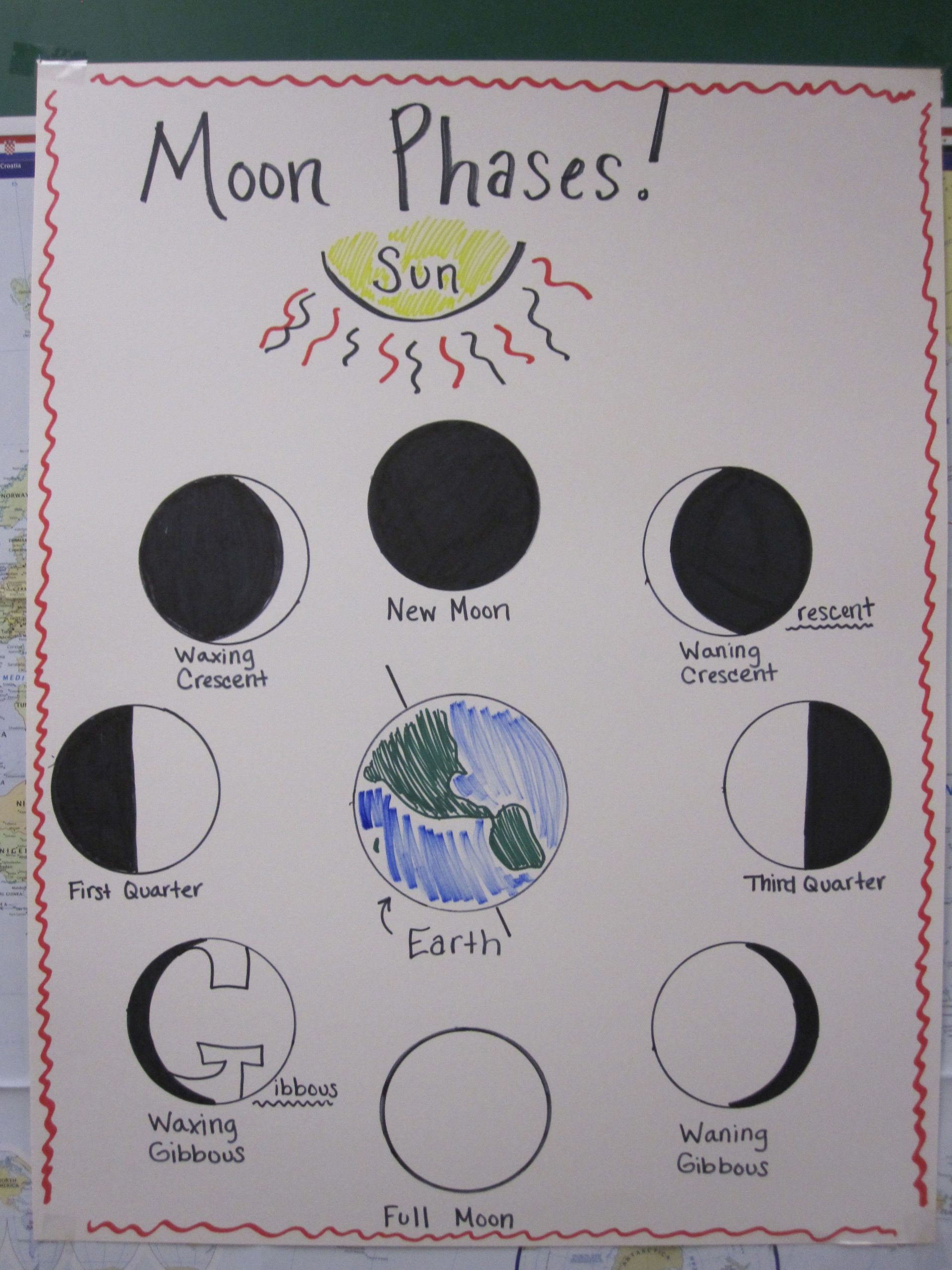 Moon Phases Worksheet 5th Grade Pin by Juanita Pritchard On Science Ideas