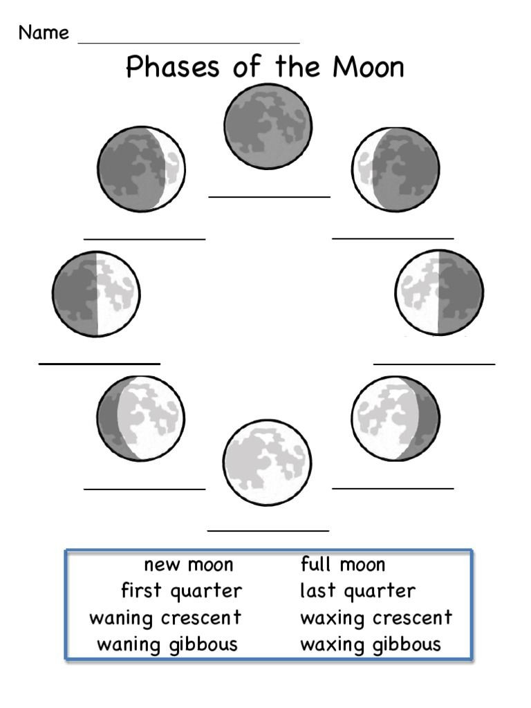 Moon Phases Worksheet 5th Grade This is A Worksheet to Show the Phases Of the Moon