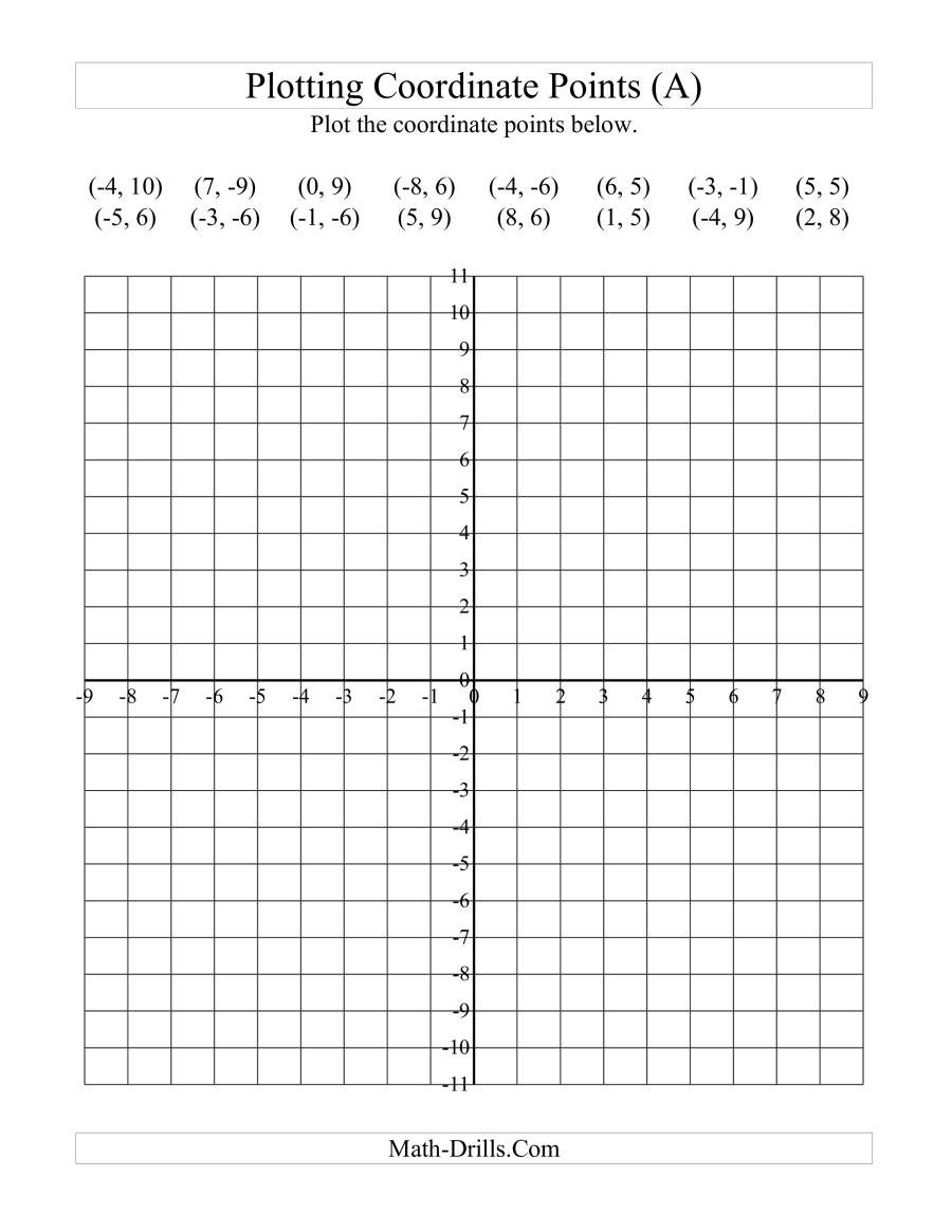 Mystery Graph Pictures Printable Free Plotting Coordinate Points A