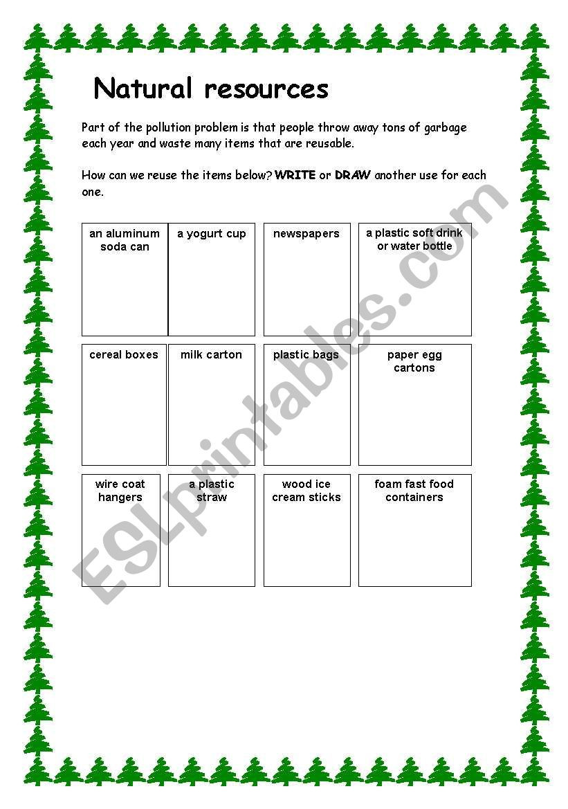 Natural Resources Worksheets 3rd Grade English Worksheets Natural Resources