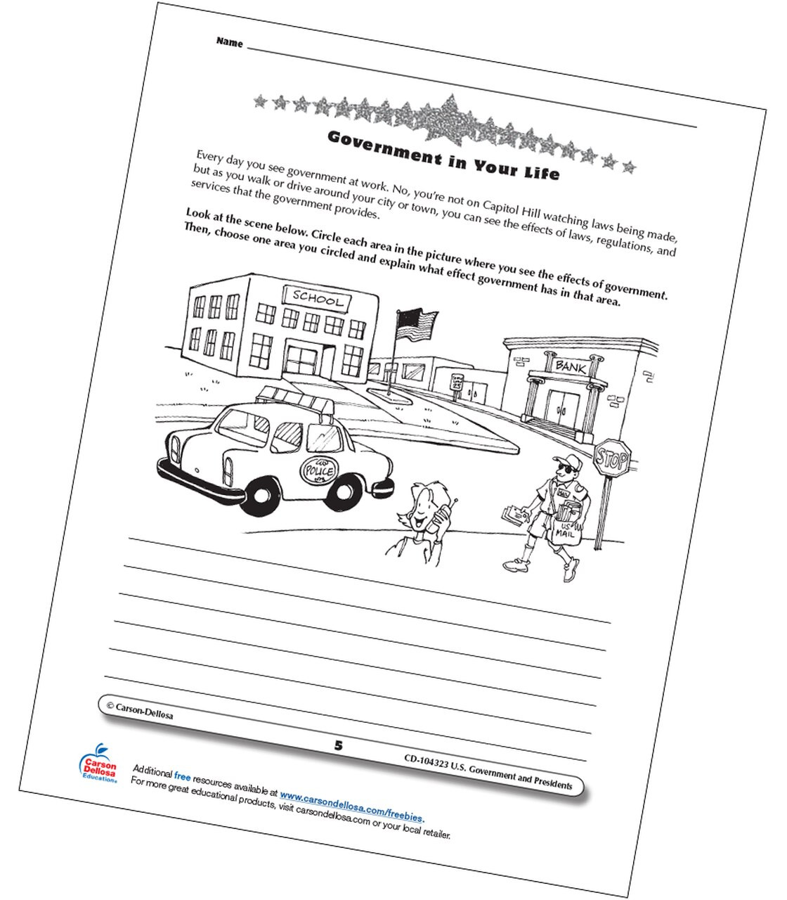 Natural Resources Worksheets 3rd Grade Identify Government In Your Life Grades Free Printable