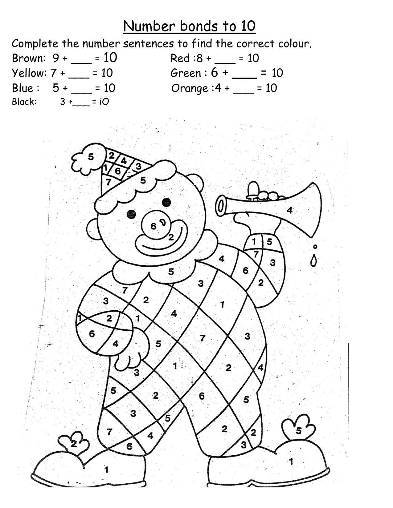 Number Bonds Worksheets 1st Grade 4 Free Math Worksheets First Grade 1 Addition Number Bonds