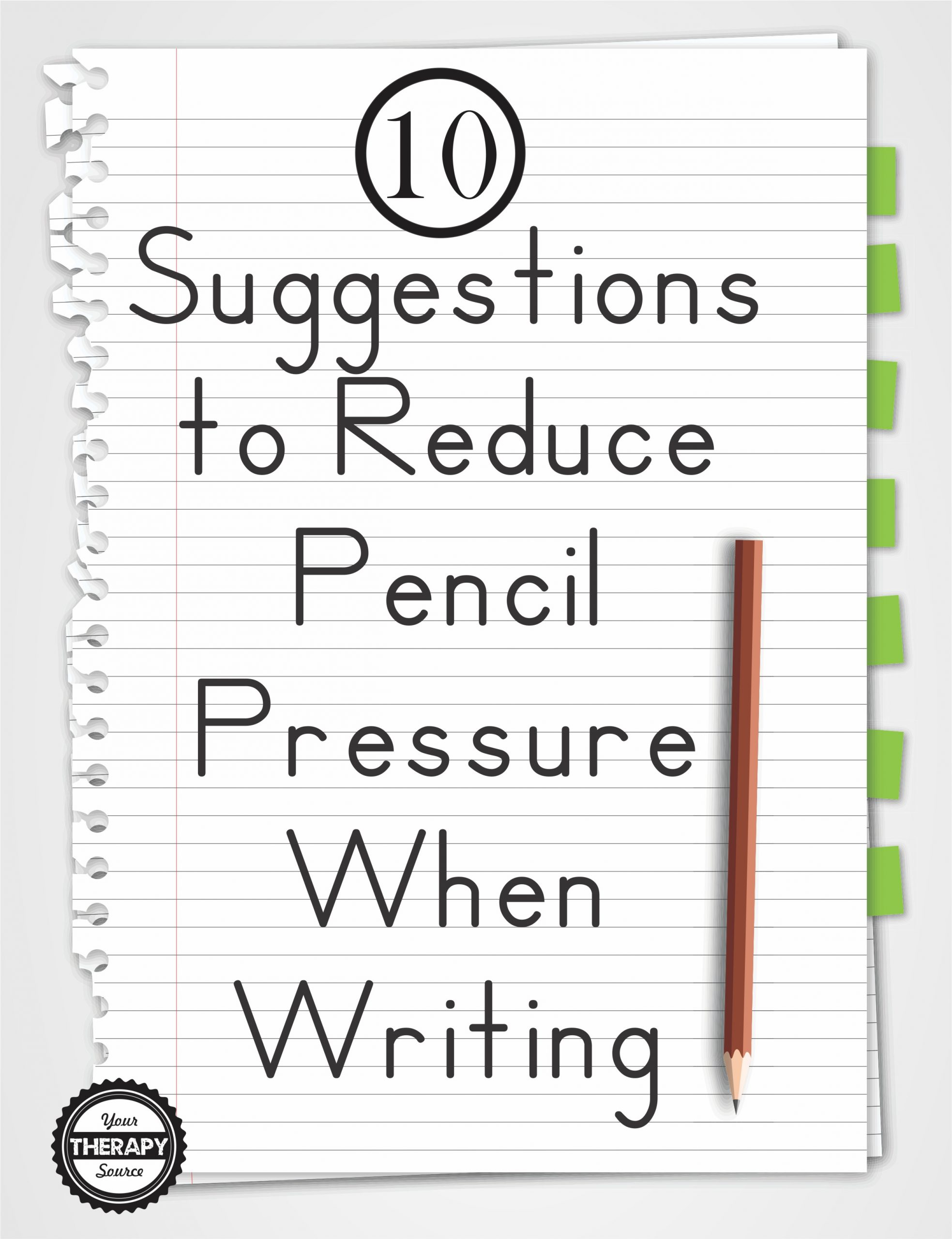 Occupational therapy Handwriting Worksheets 10 Suggestions to Reduce Pencil Pressure when Writing Your