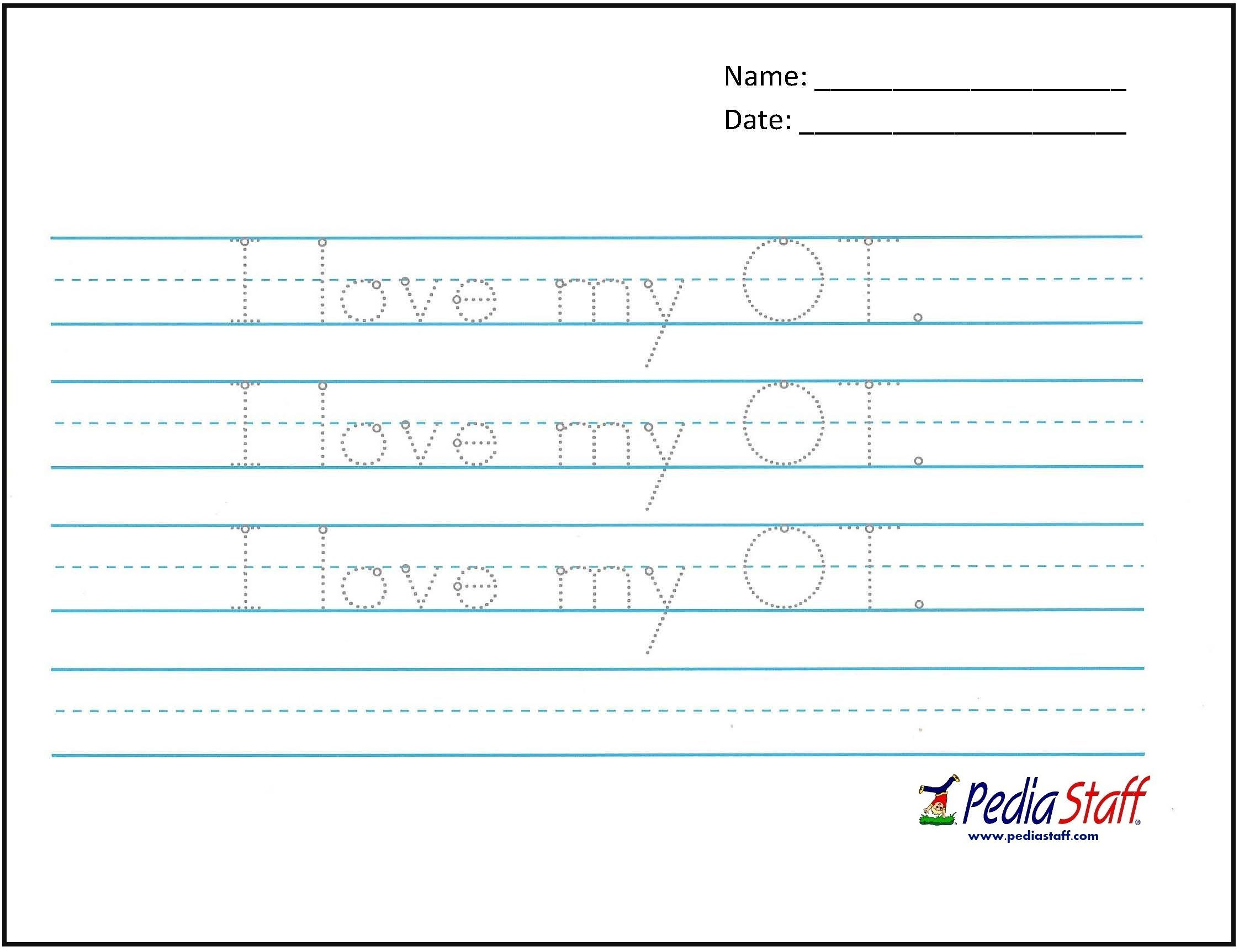 Occupational therapy Handwriting Worksheets Handwriting Practice for Occupational therapy Month