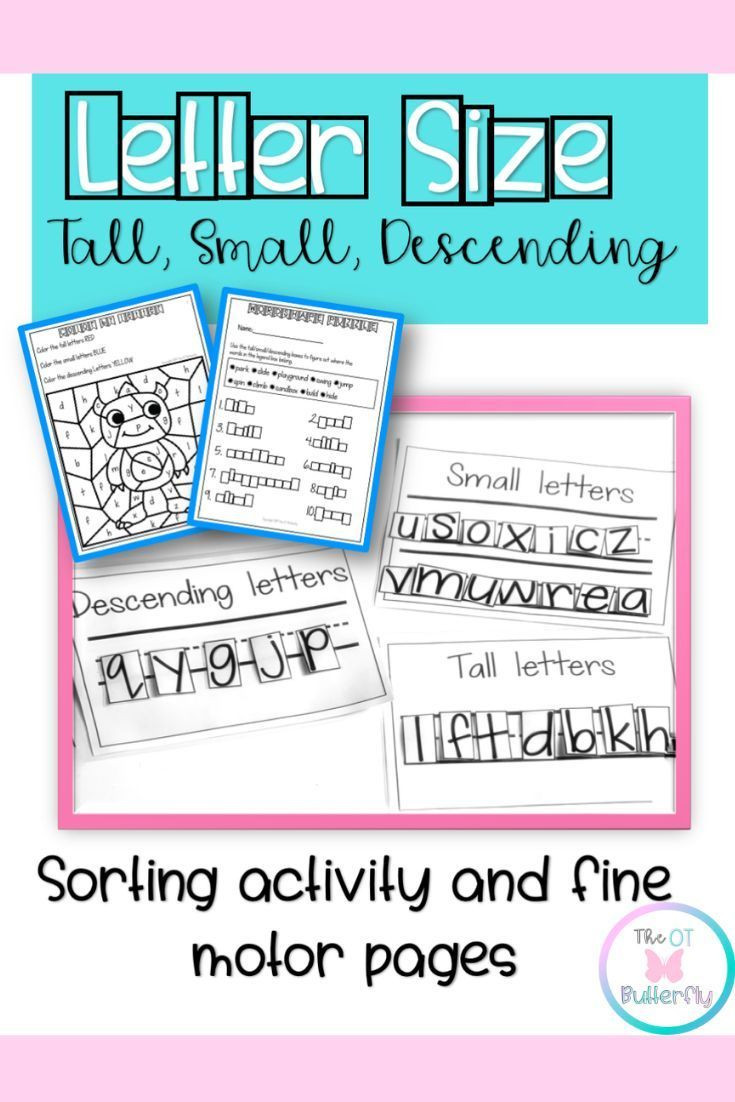Occupational therapy Handwriting Worksheets Tall Small and Fall Letter Worksheets sorting Word Shapes