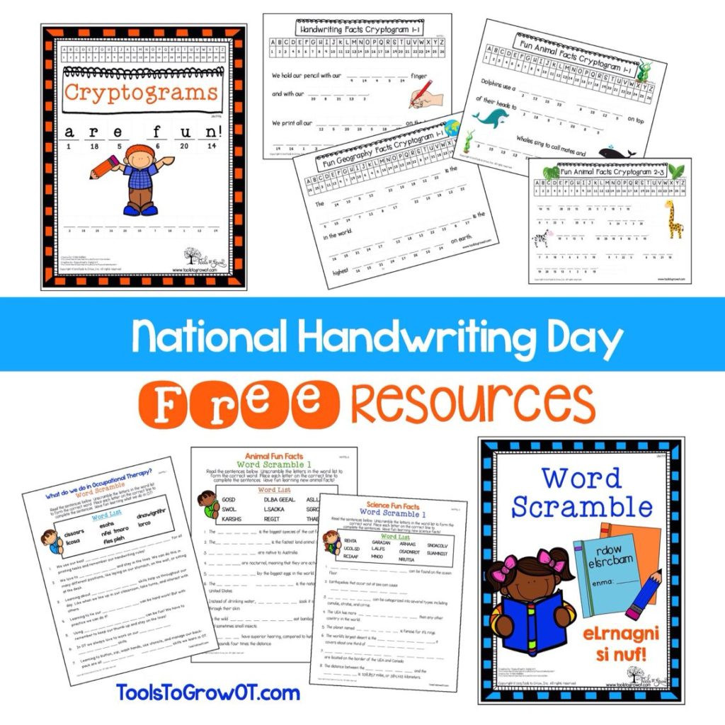 Occupational therapy Handwriting Worksheets Worksheet Free Handwriting Resources Worksheetsor Adults