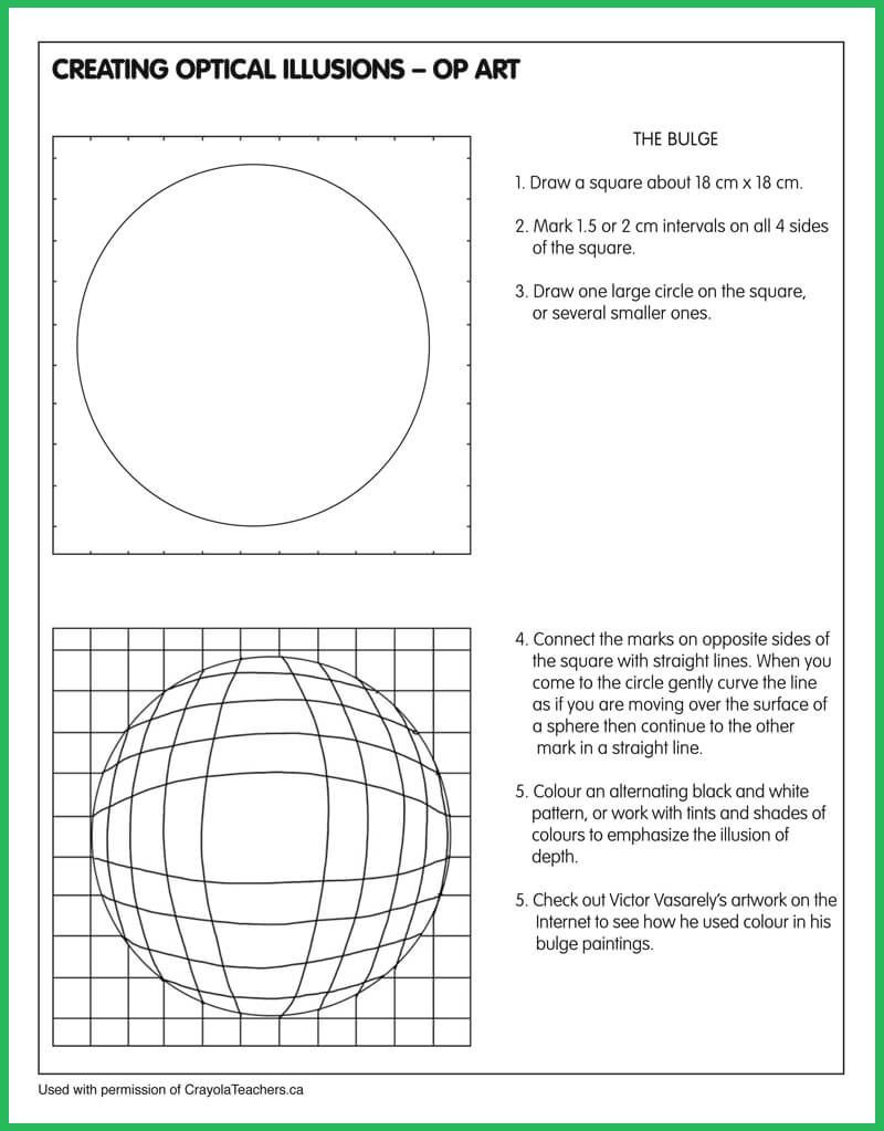 Optical Illusion Worksheets Printable Art Worksheets