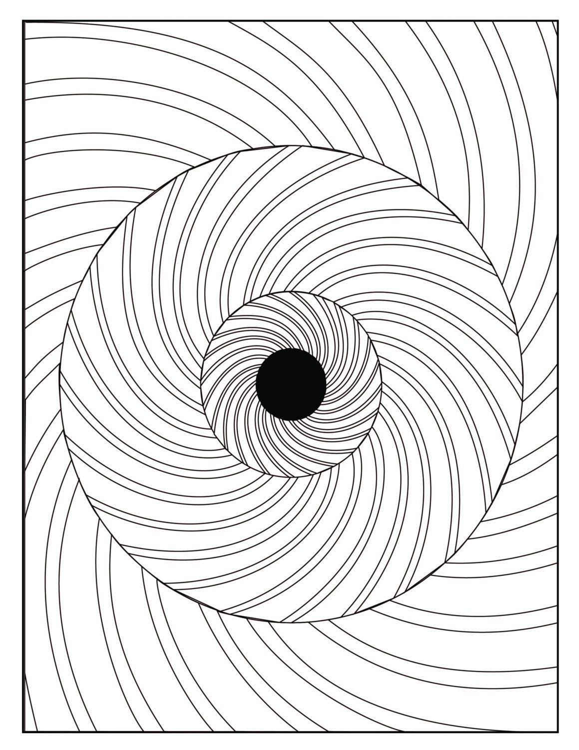 Optical Illusion Worksheets Printable Digital Optical Illusion 3 Coloring Page by