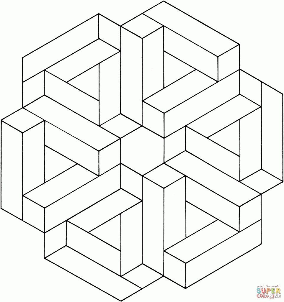 Optical Illusion Worksheets Printable Optical Illusions Coloring Pages Free Coloring Pages