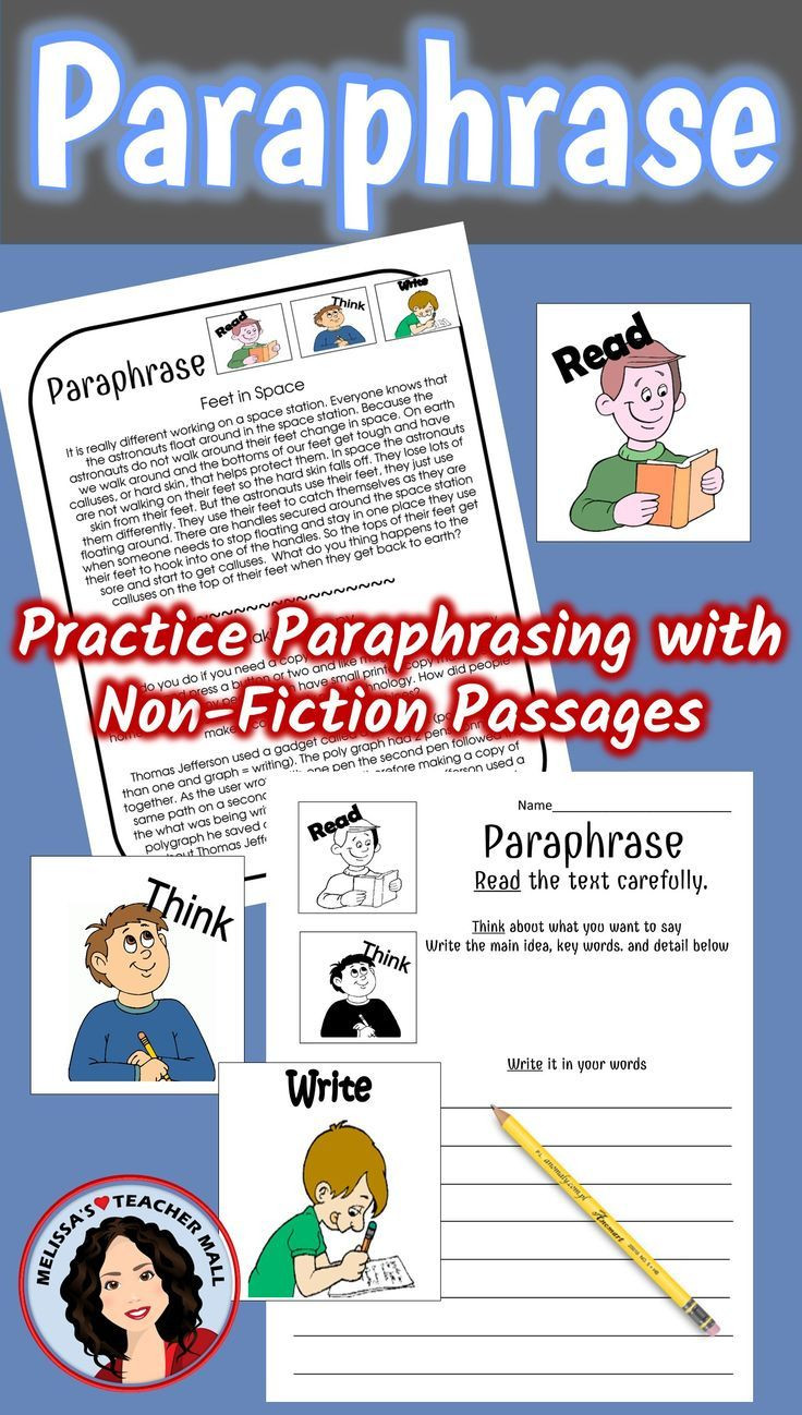 Paraphrase Worksheet 5th Grade Paraphrase Activity 3 Easy Steps to Paraphrasing Non Fiction