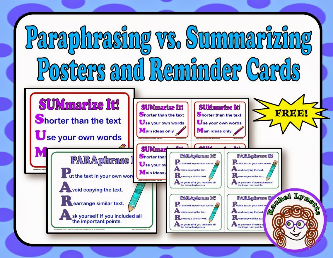 Paraphrase Worksheet 5th Grade Teaching Kids to Paraphrase Step by Step Minds In Bloom