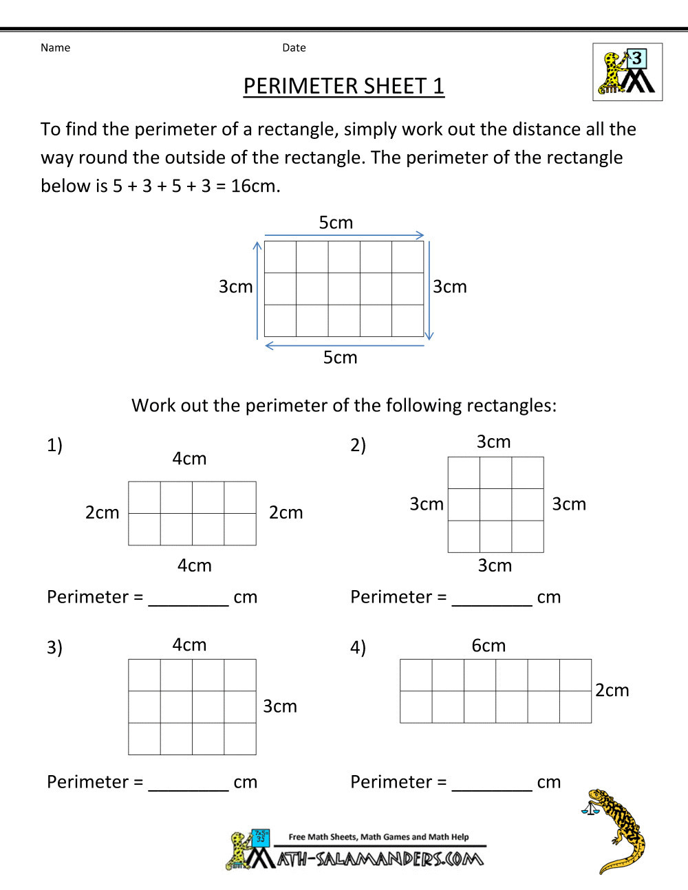 Perimeter Worksheets 3rd Grade Pdf 5 Free Math Worksheets Third Grade 3 Division Worksheets